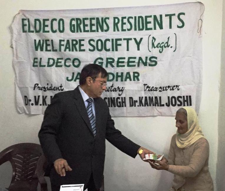 Free Ayurvedic Camp organized on the eve of Guru Nanak's Birthday by the Sachha Sauda Charitable Welfare Trust in collaboration with the Eldeco Green Welfare Society.
