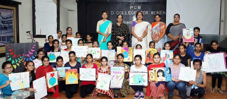 PCM SD College for Women holds Poster Making Competition for students of B.A. B.Ed Integrated Course